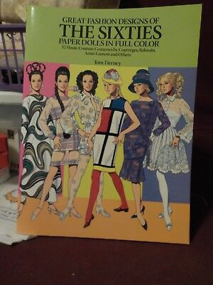 New Uncut 1990 Great Fashion Designs Of The Sixties Paper Doll By Tom Tierney