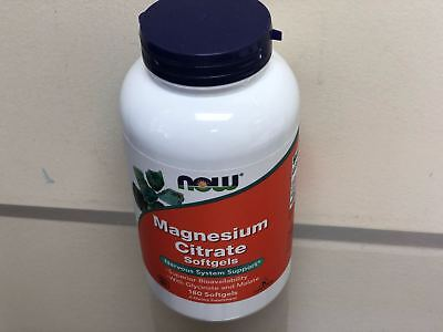 NOW Foods Magnesium Citrate 400 mg, 180 Softgels,