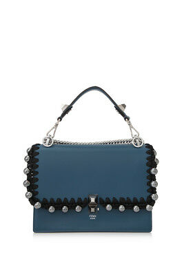 FENDI MON TRÉSOR Mini Bag (Blue  Calfskin Leather) -  1,750.00 ... b31d338bf3