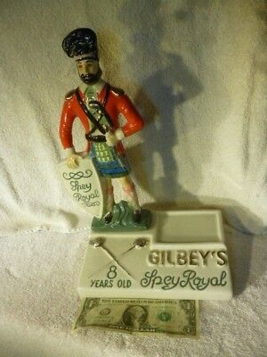 Vintage Gilbey's Spey Royal Scotch Whisky Bottle Decanter Bar Display Piece