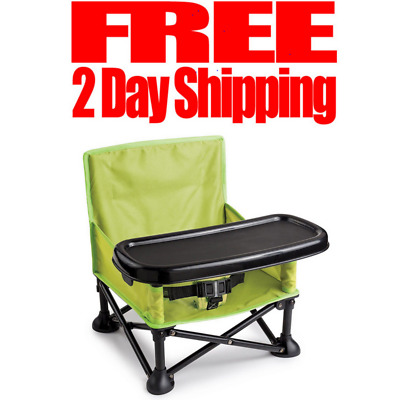 Summer Infant Pop Sit Portable Booster, Baby Chair Folding Travel Tray Free Ship
