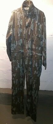 Red Head  Vintage men's Large regular Treebark Camouflage Hunting Coveralls
