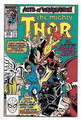 THOR #412 (12/89 Marvel) VF+ (8.5) FIRST FULL APPEARANCE NEW WARRIORS! KEY BOOK!