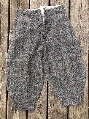 Antique Wool Herringbone Knickers! Button Fly, Lined In Very Good Condition!l@@k