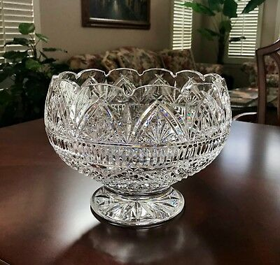 Waterford Crystal Master Cutter 10 Wedding Bowl Deeply Cut Treasure