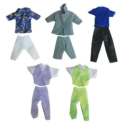 1 Set Doll Clothes Suit for Ken Fashion Handmade Coat Pants for Dolls: