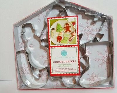 Martha Stewart Collection Cookie Cutters New Christmas Candy Cane Snowman Santa