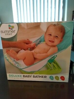 SUMMER INFANT, DELUXE baby bather, 4 different colors, brand new ...