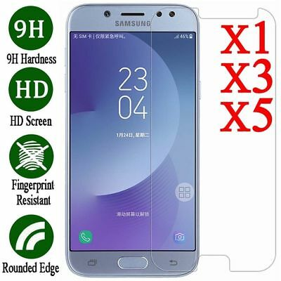 5x Tempered Glass Screen Protector For Samsung S7 J3 J5 J7 Pro A3 A5 A7 A8 2017