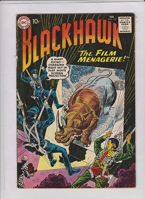 """BLACKHAWK #157 VG, Dick Dillin cover & art, """"The Film Menagerie"""" 1961, low cost"""