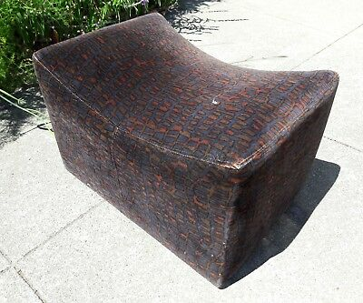 Milo Baughman Thayer Coggin Ottoman For Swivel Chair Dated 1972 Mid Century Mcm