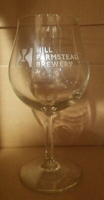 "Hill Farmstead Brewery 7.5"" Glass Stemmed Tulip Rare Glassware Breweriana"