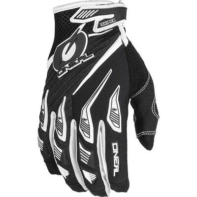 NEW Oneal 2019 MX Gear Sniper Elite Black White Dirt Bike Motocross Gloves