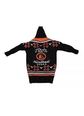 Tito's Handmade Vodka Miniature Ugly Sweater Bottle Sleeve Cover