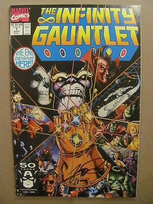 Infinity Gauntlet #1 #2 #3 #4 #5 #6 Marvel Comics #1 Signed George Perez 9.4 NM