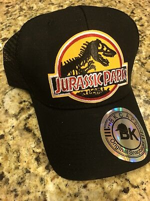 Jurassic Park Hat Trucker Embroidered Patch Cap World Dinosaur Movie INGEN