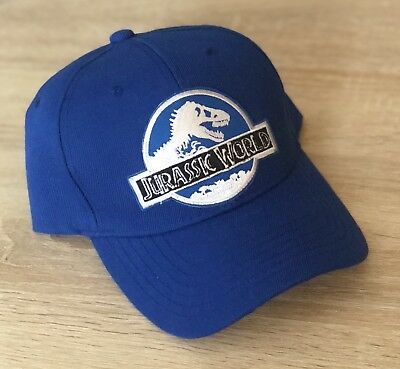 Jurassic World Hat Embroidered Patch Park Cap  Dinosaur Movie INGEN Blue