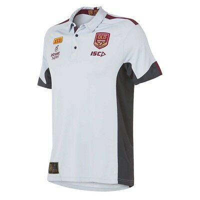 QLD Maroons 2018 State of Origin Grey Polo Shirt Sizes S-3XL BNWT