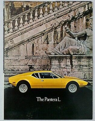 1972 De Tomaso Pantera L Original Sales Brochure Lusso US Spec Ford Version Ghia