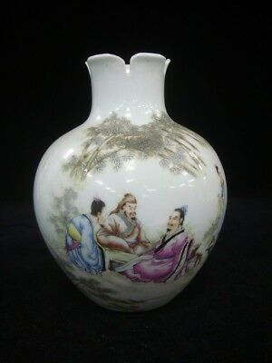 Very Fine Old Chinese Famille Rose Painting Porcelain Vase