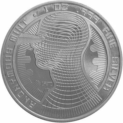 1 oz Solid Silver Bitcoin Guardian Commemorative 999 Pure/Solid Silver Round