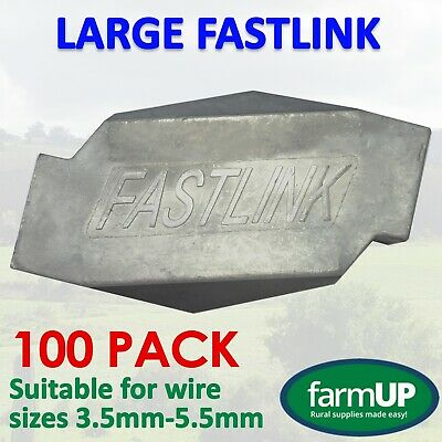 100x LARGE FASTLINK WIRE JOINERS fence strainer Works with gripple