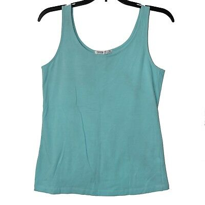 71320ea4fd4 Femme by Tresics Women s Tank Top S Sky Blue Sleeveless Stretchy Soft Casual