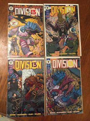Division 13 #1-4 VF/NM (1994-5 Dark Horse Comics)