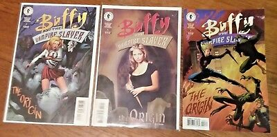 Buffy the Vampire Slayer: The Origin #2 & 3b VF/NM #3a VG(1999 Dark Horse)