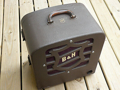 VINTAGE BELL & HOWELL FILMOSOUND 16mm FILM PROJECTOR SPEAKERwith Cover