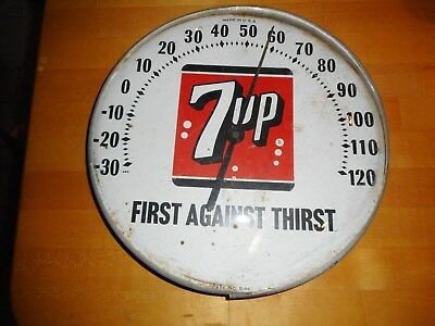 1966 Rare Bubble Glass 7 Up Thermometer