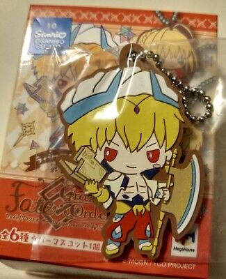 Fate Grand Order Sanrio Vol 3 Caster Gilgamesh Gil Rubber Strap Key Chain Cute