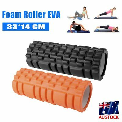 New High Density EVA GRID Foam Roller Yoga Pilates GYM Physio Massage AB Point #