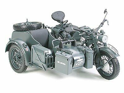 Tamiya 1/10 Shuko Germany Army Zundapp KS750 sidecar die-cast complete mode
