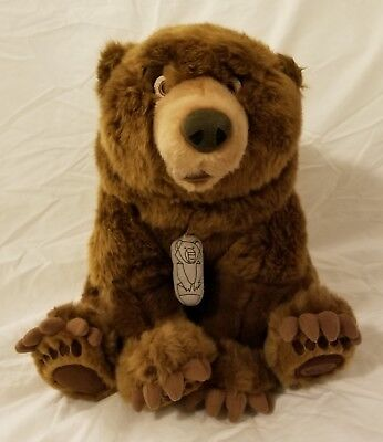 "Brother Bear Kenai With Totem Rare 12"" Plush Disney Store Exclusive-Retired"