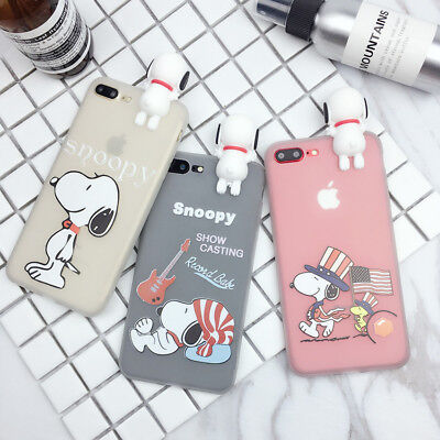 Cartoon Snoopy Phone Case Silicone Soft Back TPU Cover For iPhone X 8 7 6S Plus