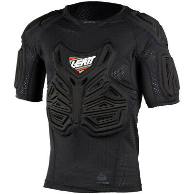 Leatt NEW Mx Black Adults Padded Motocross Dirt Bike MTB BMX Roost T-Shirt Tee