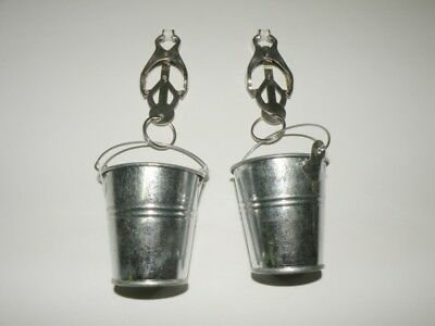 2 Clover Nipple Clamps with Buckets
