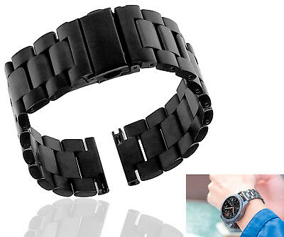 Stainless Steel Watch Band Strap For Samsung Gear S3 Frontier Classic Black 22mm