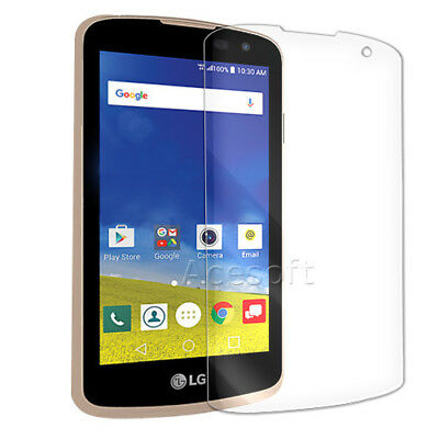 New Ultra Clear Tempered Glass Screen Protector for Cricket LG Spree K120 Phone