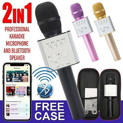 Q9 Wireless Karaoke Microphone Speaker Bluetooth 4.1 Handheld USB Player KTV