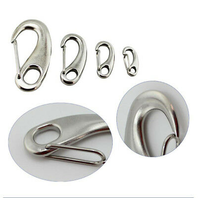 304 Boat Marine A2 Stainless Steel Gate Spring Clip Snap Hook / Lobster Claw AU