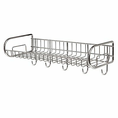 Stainless Steel Wall Mounted Storage Shelf / Utility Rack / Hook Hanger