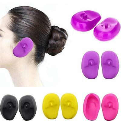 2x Silicone Ear Cover Shield Hair Dye Color Coloring Shield Protect Guard LH