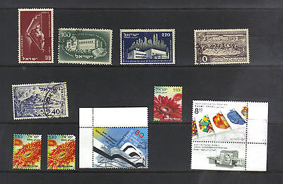 ISRAEL 1950 TO RECENT COLLECTION X 9 DIFFERENT  FINE USED Hinged/Hinge trace