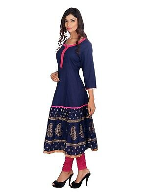 Kurti cotton  Printed Indian Women Ethnic Designer Bollywood  Tunic New Style