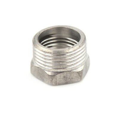 "SS 201 3/4"" Male x 1/2"" Female Thread Reducer Bushing Pipe Fitting NPT J&S"