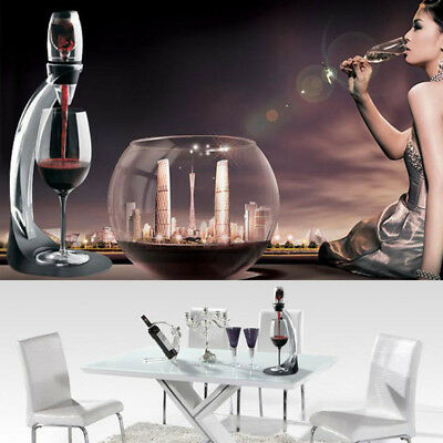 Professional Magic Red Wine Vodka Decanter Aerator With Filter Stand Holder
