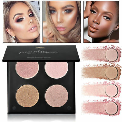 4 Colors Women Shimmer/Matte Highlighter Bronzer Eyeshadow Pressed Powder Makeup