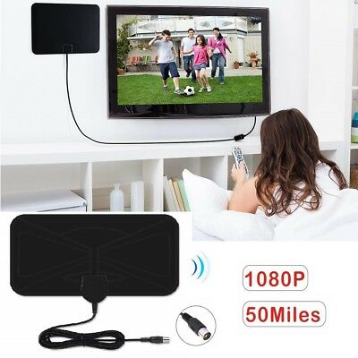 Thin Freeview Indoor Digital TV Aerial HDTV Antenna 50 Mile Range